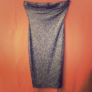 Form fitting tube dress